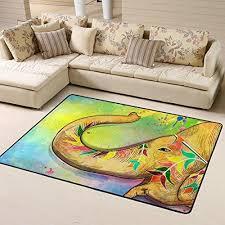 abstract watercolor elephant non slip