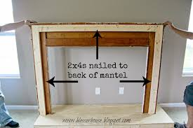 for the mantel we nailed in 2x4s inside the back of the frame to later use as an anchor to the wall
