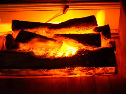 battery operated fireplace logs
