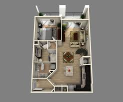 One Bedroom Apartment Layout One Bedroom One Bathroom Apartments