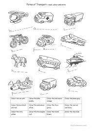 Means Of Transport Worksheets for Preschoolers   Homeshealth.info
