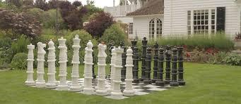 garden chess set. Uber Giant Chess Pieces, Set, Outdoor Garden Chessmen Set