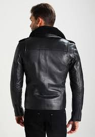 men excelled leather jacket backside