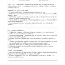 Mcdonalds Cashier Resume Mcdonalds Cashier Resumes 1321268157501 Cashier Resume Templates