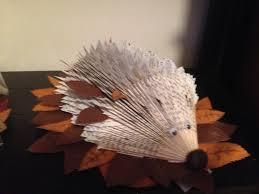 hedgehog book fold