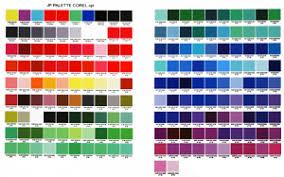 Dye Sublimation Color Chart Jp Color Palette