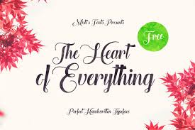 The Heart Of Everything Free Font Creativebooster