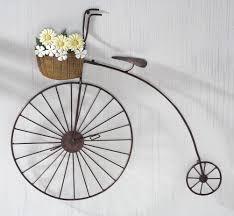 homemade metal bicycle wall art