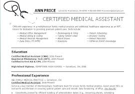 Resume Objectives For Medical Assistant Objective For Medical Resume