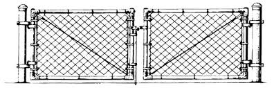 chain link fence double gate. Chain Link Gate Fence Double
