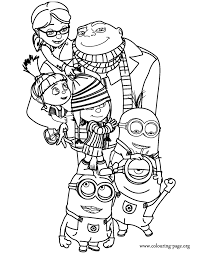 Small Picture Despicable Me Coloring Pages Free Printable Coloring Pages