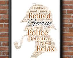 personalised sherlock holmes detective policeman word art print keepsake gift a4 print only free uk p
