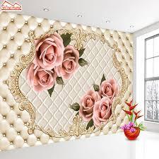 shinehome large european soft roll pillar flower 3d contact paper 3d modern living room wall