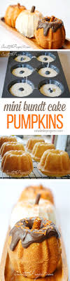 Halloween Bundt Cake Decorations Mini Bundt Cake Pumpkins