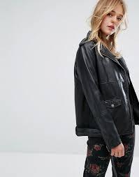 monki faux leather biker jacket black women monki lookbook top brands