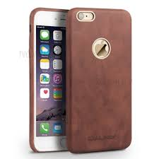An efficient way to protect your apple iphone 6 series cell phone from everyday wear and tear, this leather apple phone case is also a simple method of customizing your smartphone with color and design choices that help make a unique fashion statement. Shop Qialino Slim Genuine Cow Leather Case Cover For Iphone 6s Plus 6 Plus Brown From China Tvc Mall Com