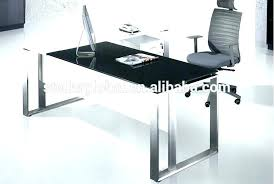 white desk with glass top office