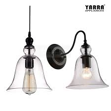 details about vintage retro clear glass lighting wall lamp pendant light industrial fixtures