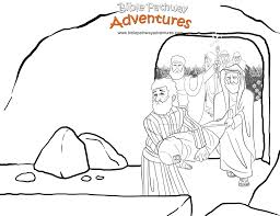 Free Coloring Page Jesus Buried Passover