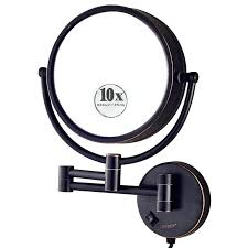 wall mounted makeup mirrors 10x magnification igurun 85 inch led lighted wall mount makeup mirror wall