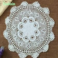 modern diy handmade crochet round table cloth cover kitchen lace cotton coffee tablecloth dining wedding decor plastic table cloth dining table