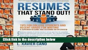 Stand Out Resumes Impressive DOWNLOAD [PDF] Resumes That Stand Out Tips For College