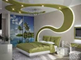 lighting for bedrooms ceiling. #11 CREATIVE GREEN PATTERN FALSE CEILING DESIGNS WITH DRYWALL AND LED LIGHTS Lighting For Bedrooms Ceiling -