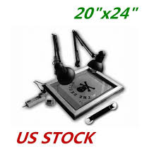 us stock uv exposure unit screen print plate making silk screening diy 20 x