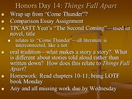 "honors day things fall apart wrap up from ""come thunder"" wrap  1 honors"