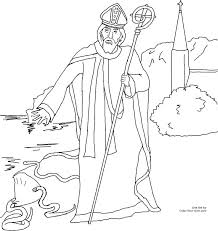 Saint Patrick Coloring Page Saint Coloring Pages For Kids And For