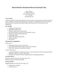 Administrative Resume Profile Statement Examples Perfect Resume