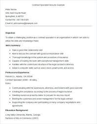 Microsoft Word Sample Resume Sample Contract Specialist Resume ...