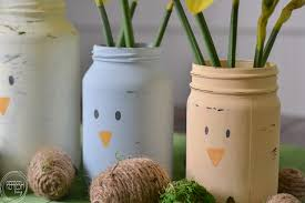 How To Decorate A Glass Jar DIY Spring Centerpiece from Old Glass Jars Refresh Living 66