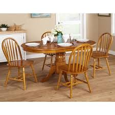 Simple Living Farmhouse 5piece Oak Dining Set  Overstockcom Shopping   The