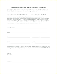 Direct Deposit Template Free Vendor Payment Authorization Authorization Form Template