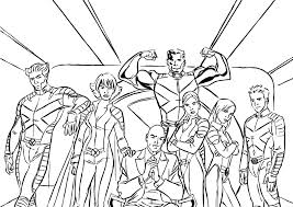 Small Picture 14 x men coloring page to print Print Color Craft