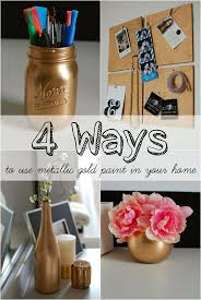 Metallic gold spray paint to transform your home! So cute!
