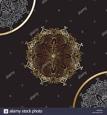 Mandala Design Background Luxury Ornamental Mandala Design Background In Gold Color