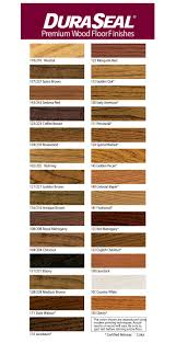 Duraseal Quick Coat Penetrating Finish Stain Color Chart A