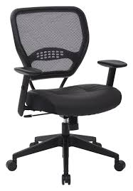 ergonomic mesh office desk chair with adjustable arms. office star space seating professional eco leather seat ergonomic mesh desk chair with adjustable arms