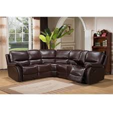 hillrose top grain dark burdy leather reclining sectional sofa