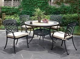 fonda round outdoor table set
