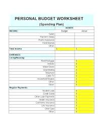 Personal Financial Budget Sheet Free Personal Financial Budget Template Planning Spreadsheet Easy