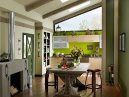 Kitchen Accent Wall 9 Kitchen Color Ideas That Arent White Hgtvs Decorating