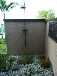 outdoor shower ideas for pool