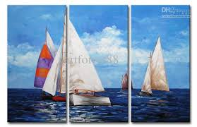 2018 modern abstract artwork the sailboat on the sea wall decor oil painting on canvas 100 hand painted fashion accessories on framed from artforest88