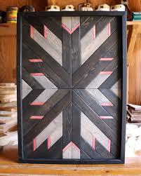 modern wood art patriotic wood wall art geometric wood art boho