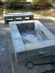 concrete block fire pit outstanding cinder block fire pit design ideas for outdoor cinder fire pit