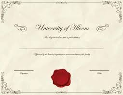 Fake Degree Certificate Template Free Bachelors – Giancarlosopo.info
