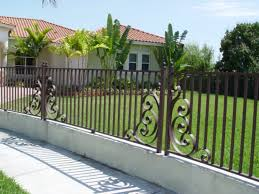 Here's a beautiful metal fence with an elegant design.